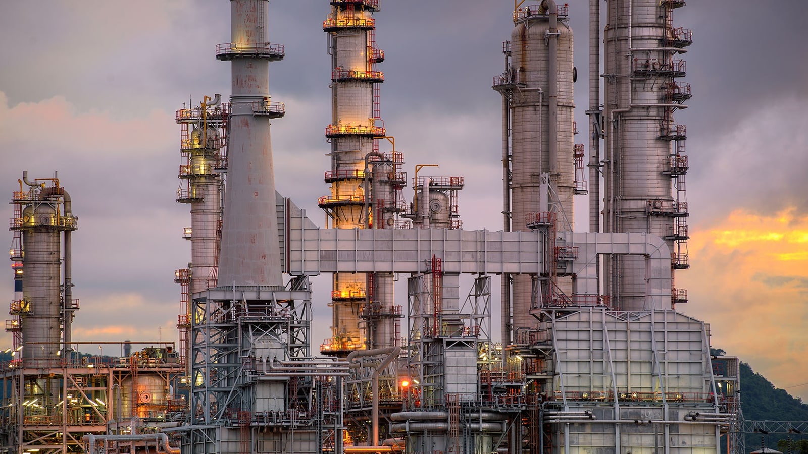 Oil and gas plant